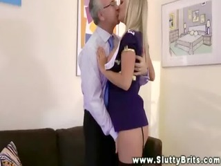 youthful bitch spoiling an old mans shlong