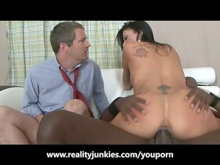 husband watches his wife fuck a black boy