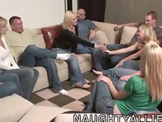 party game leads to a massive fuckfest swinger