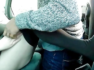 french bbw mom and black paramour in car slow
