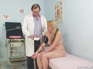 older stazka gyno fetish real exam at kinky gyno