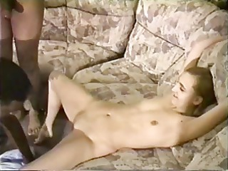 skinny wife is drilled for two very large dark