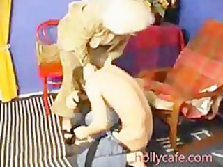 old mommy spanks him and then fucsk him blowjob