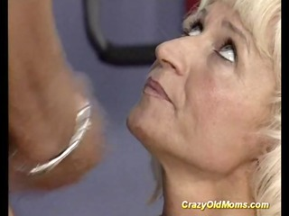 crazy old mamma receives hard drilled