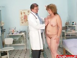 bushy chubby mommy gets harrassed by gynecologist