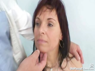 older livie visiting her gyno doctor for love