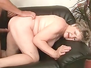 bulky grandma enjoying wicked sex