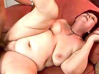 very fat grandma getting drilled hard