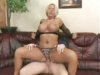 blond d like to fuck with huge mounds in fishnets