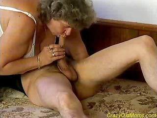 eager old mommy receives large jock